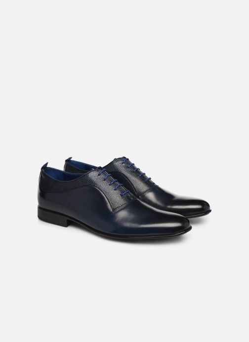 Lace-up shoes Azzaro Malot Blue 3/4 view