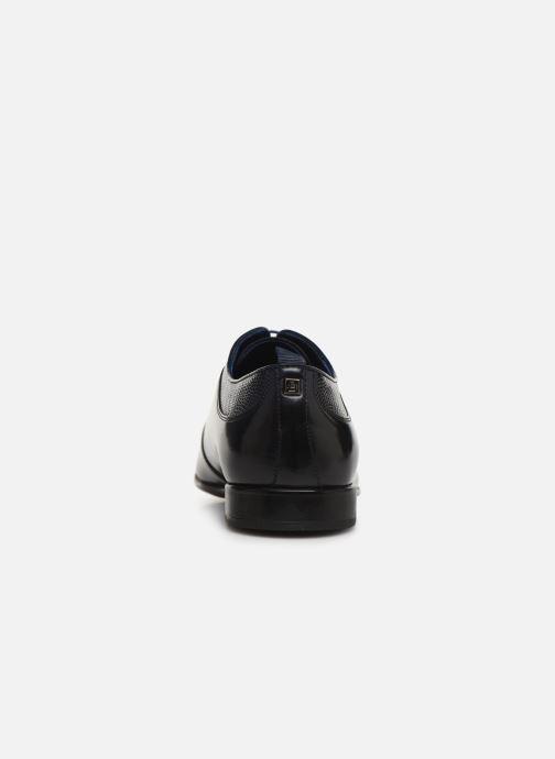 Zapatos con cordones Azzaro Malot Azul vista lateral derecha