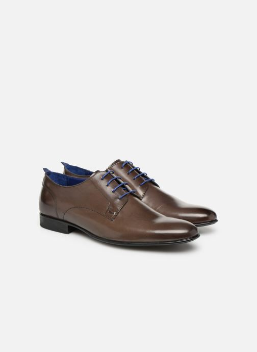 Lace-up shoes Azzaro Monfort Brown 3/4 view