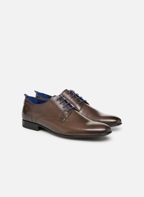 Zapatos con cordones Azzaro Monfort Marrón vista 3/4