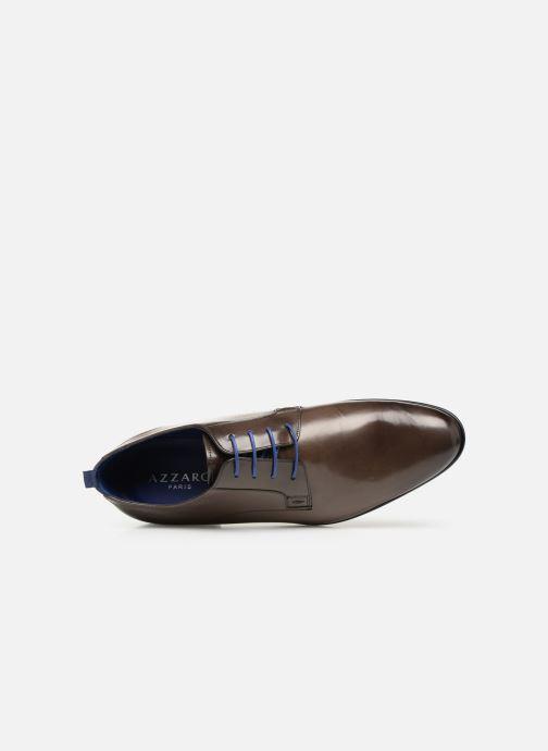 Zapatos con cordones Azzaro Monfort Marrón vista lateral izquierda