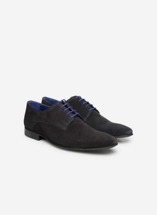 Lace-up shoes Azzaro Nabalan Blue 3/4 view
