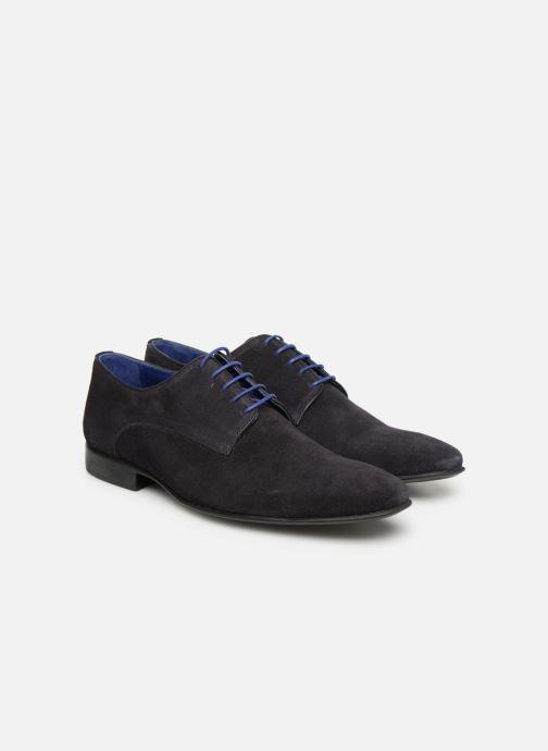 Zapatos con cordones Azzaro Nabalan Azul vista 3/4