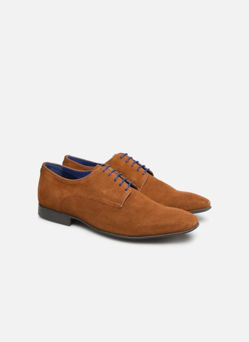 Lace-up shoes Azzaro Nabalan Brown 3/4 view