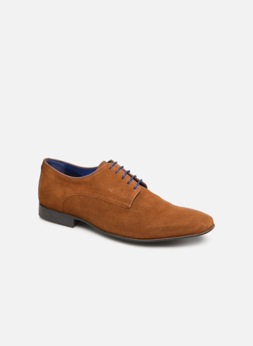 Snøresko Azzaro Nabalan Brun detaljeret billede af skoene