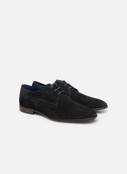 Lace-up shoes Azzaro Rivalin Blue 3/4 view