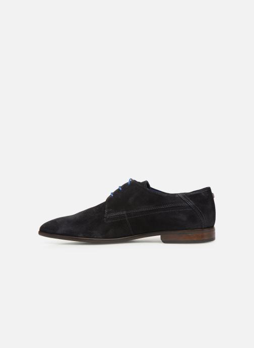 Lace-up shoes Azzaro Rivalin Blue front view