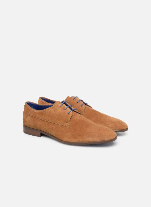 Zapatos con cordones Azzaro Rivalin Marrón vista 3/4