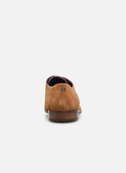 Zapatos con cordones Azzaro Rivalin Marrón vista lateral derecha