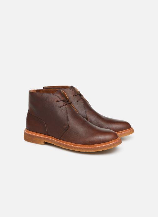 Bottines et boots Polo Ralph Lauren Karlyle Marron vue 3/4