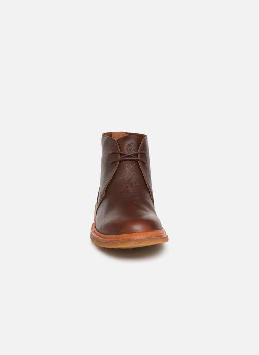 Bottines et boots Polo Ralph Lauren Karlyle Marron vue portées chaussures