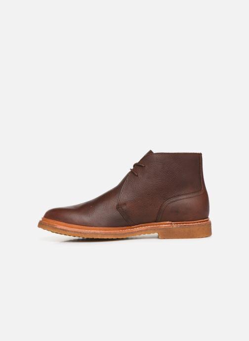 Bottines et boots Polo Ralph Lauren Karlyle Marron vue face