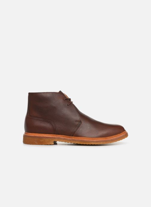 Bottines et boots Polo Ralph Lauren Karlyle Marron vue derrière