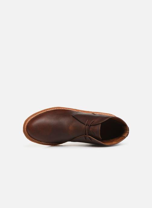 Bottines et boots Polo Ralph Lauren Karlyle Marron vue gauche