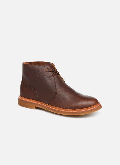 Bottines et boots Polo Ralph Lauren Karlyle Marron vue détail/paire