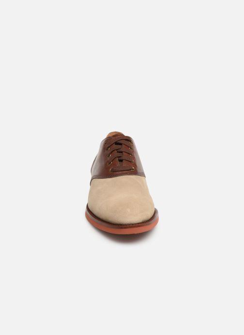 Chaussures à lacets Polo Ralph Lauren Orval Marron vue portées chaussures