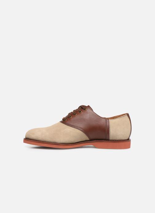 Chaussures à lacets Polo Ralph Lauren Orval Marron vue face