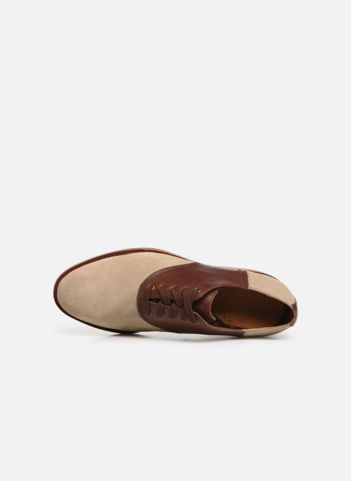 Chaussures à lacets Polo Ralph Lauren Orval Marron vue gauche