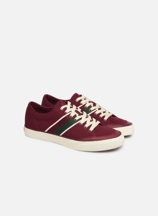 Baskets Polo Ralph Lauren Sherwin Bordeaux vue 3/4