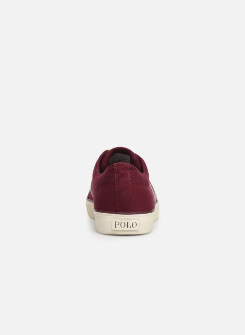 Trainers Polo Ralph Lauren Sherwin Burgundy view from the right