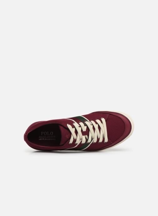 Trainers Polo Ralph Lauren Sherwin Burgundy view from the left