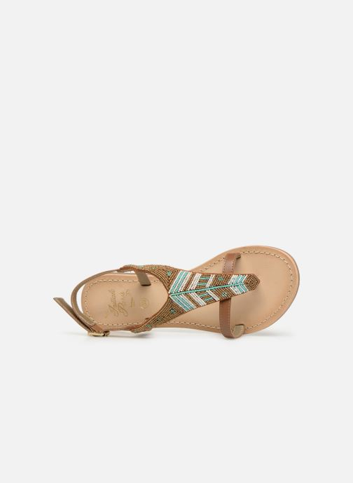 Sandales et nu-pieds Initiale Paris Nikita Marron vue gauche