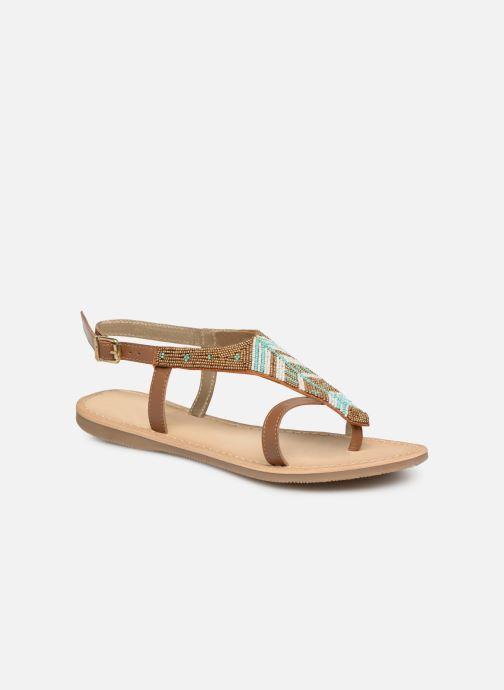 Sandales et nu-pieds Initiale Paris Nikita Marron vue détail/paire