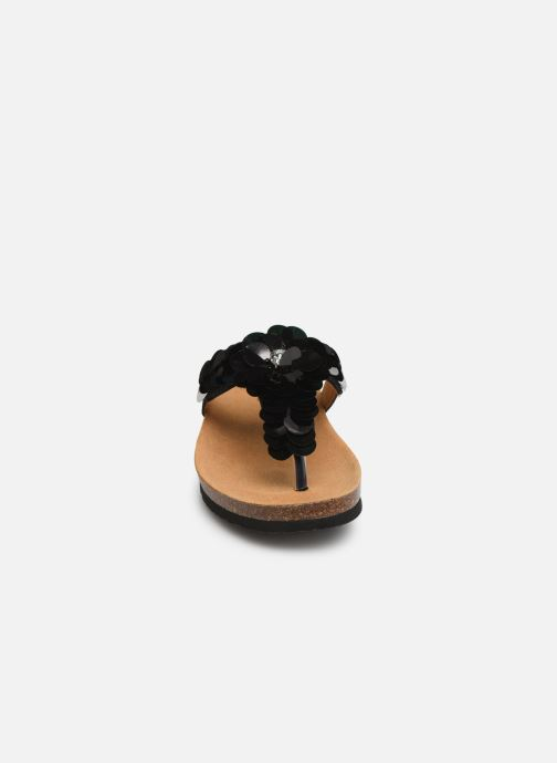 Mules et sabots Scholl Chantal flip flop C Noir vue portées chaussures