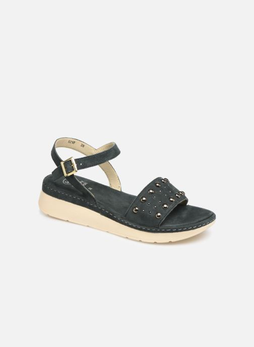 Sandals Scholl Karissa C Blue detailed view/ Pair view