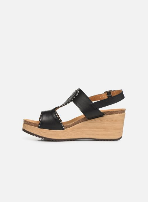 Sandals Scholl Kassidy C Black front view