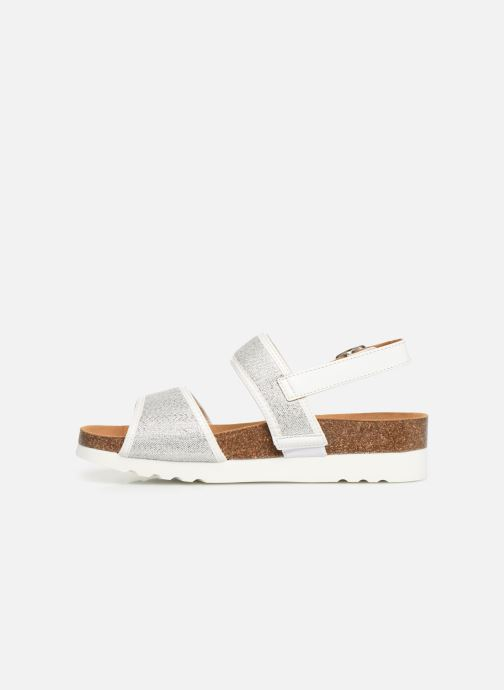 Sandals Scholl Kyria C Silver front view
