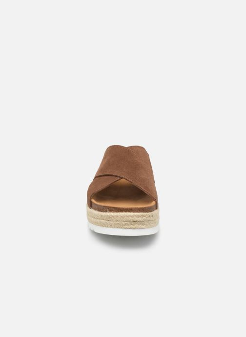 Espadrilles Scholl Malindy cross C Marron vue portées chaussures