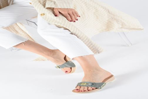 Mules & clogs Scholl Pescura tacco C Silver view from underneath / model view