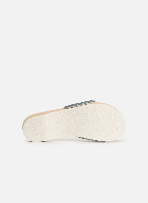 Mules & clogs Scholl Pescura tacco C Silver view from above