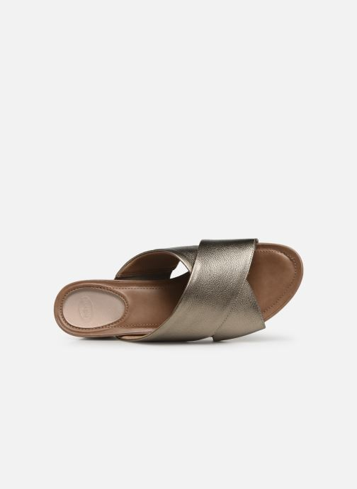 Mules & clogs Scholl Sarah C Bronze and Gold view from the left