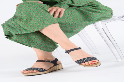 Espadrilles Scholl Selenia C Blue view from underneath / model view