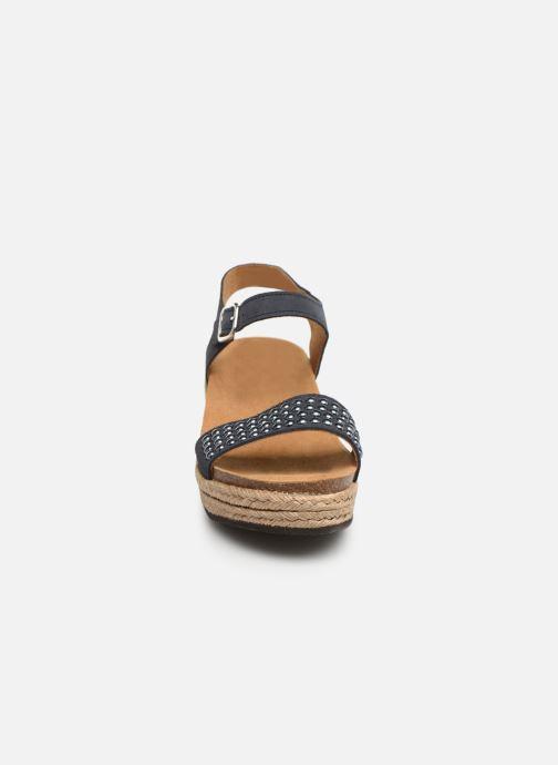 Espadrilles Scholl Selenia C Bleu vue portées chaussures