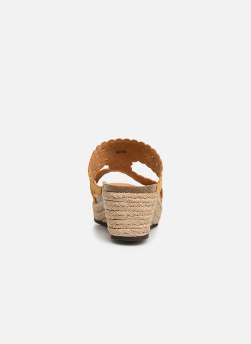 Espadrilles Scholl Shannon C Yellow view from the right