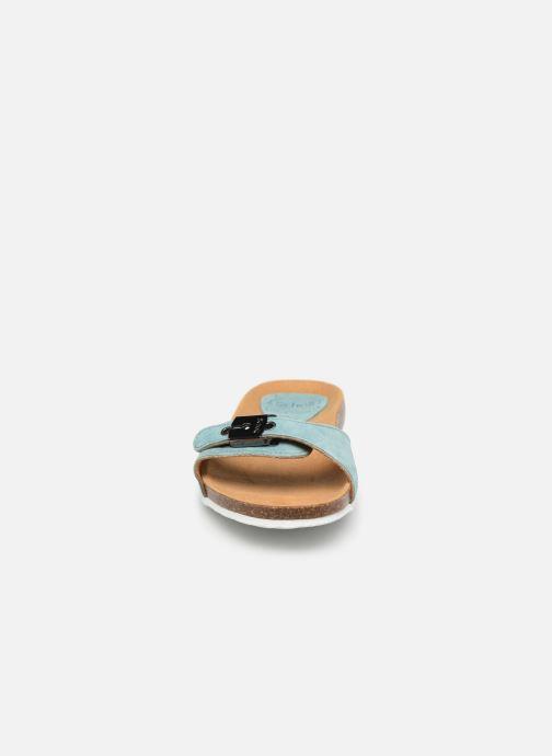 Mules et sabots Scholl Bahama 2.0 C Bleu vue portées chaussures