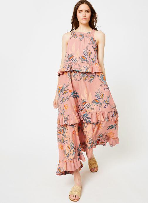 Vêtements Free People ANITA PRINTED MAXI Rose vue bas / vue portée sac