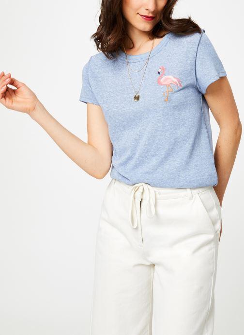 Vêtements Free People BEACHY KEEN T-SHIRT Bleu vue détail/paire