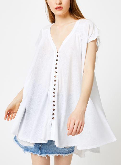 Vêtements Free People HIGHLAND TEE Blanc vue droite