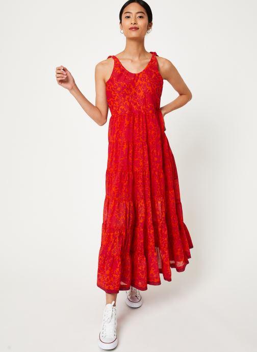 Vêtements Free People KIKA'S PRINTED MIDI Rouge vue bas / vue portée sac