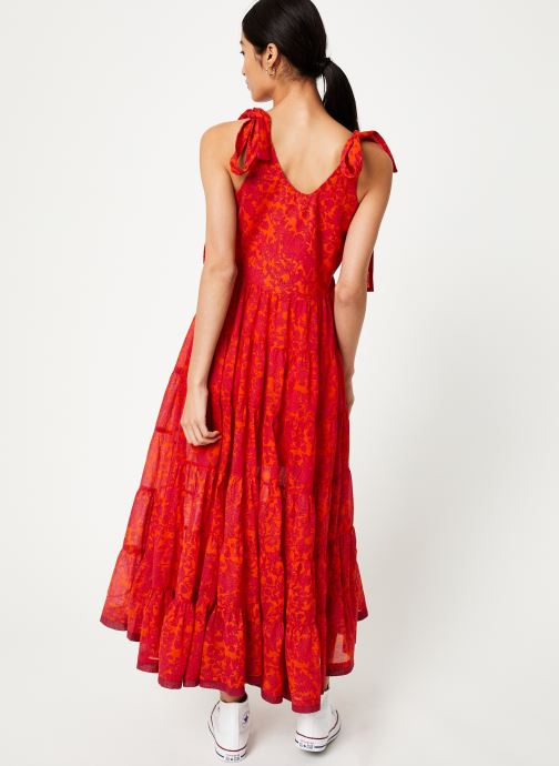 Kleding Free People KIKA'S PRINTED MIDI Rood model