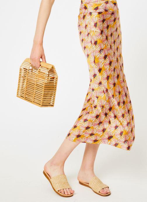 Vêtements Free People NORMANI BIAS PRINTED Jaune vue détail/paire