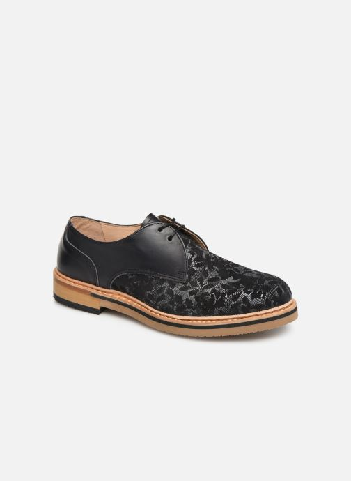 Lace-up shoes Neosens Albilla S924 Black detailed view/ Pair view