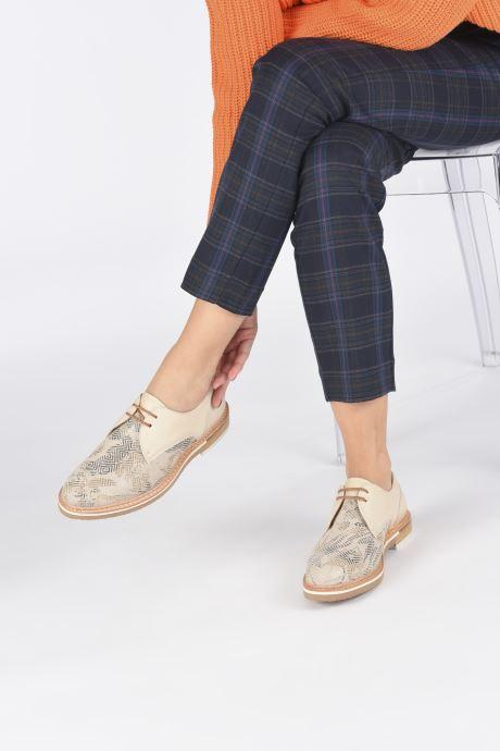 Zapatos con cordones Neosens Albilla S924 Beige vista de abajo