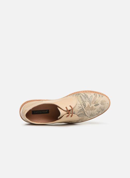 Zapatos con cordones Neosens Albilla S924 Beige vista lateral izquierda