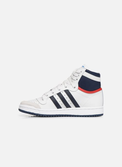 Sneakers adidas originals Top Ten Hi J Wit voorkant