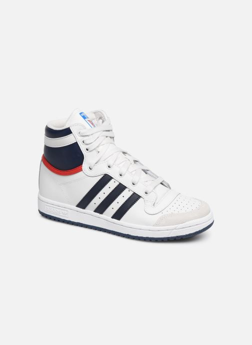 Baskets adidas originals Top Ten Hi J Blanc vue détail/paire